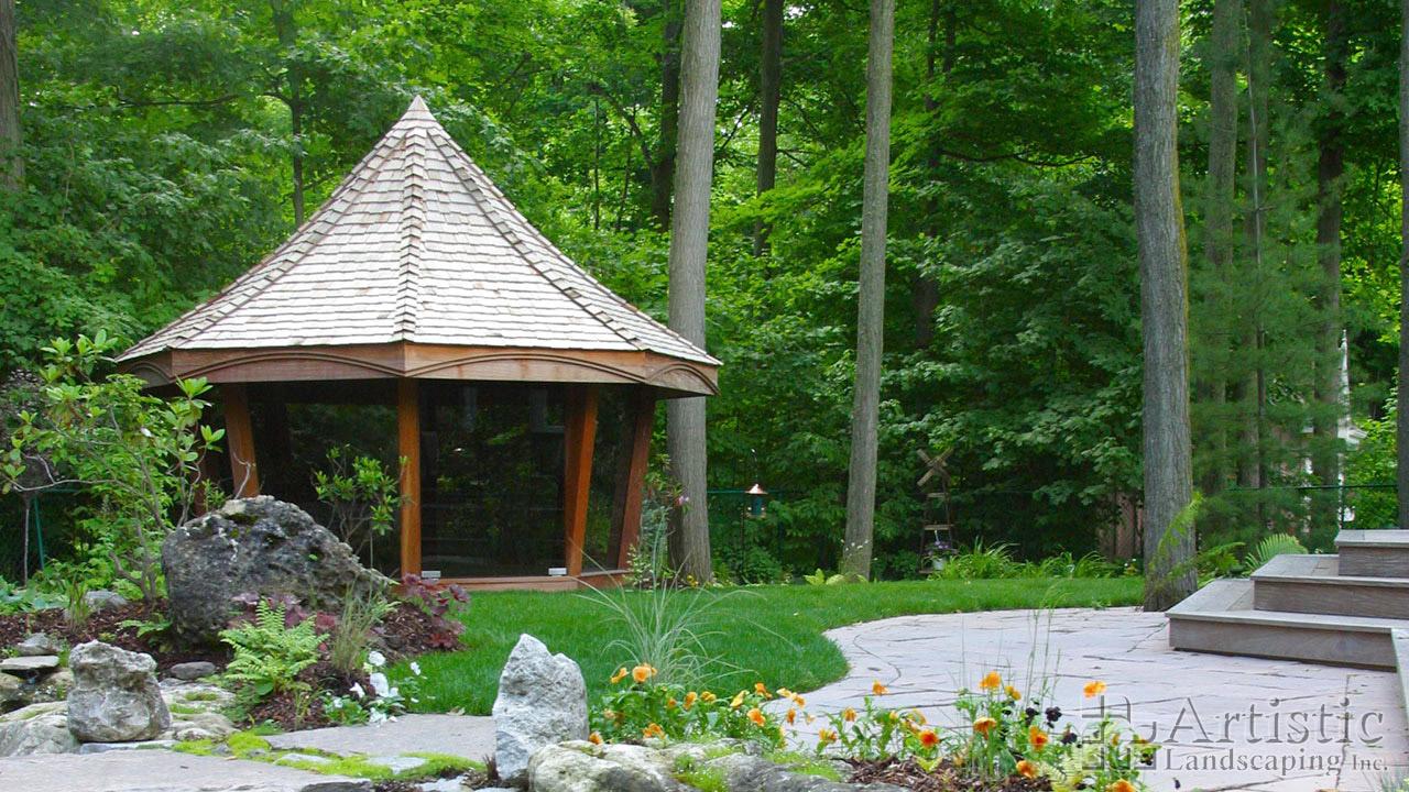 Gazebos Glass Gazebos, Outdoor Room Ideas  Artistic Landscaping Inc