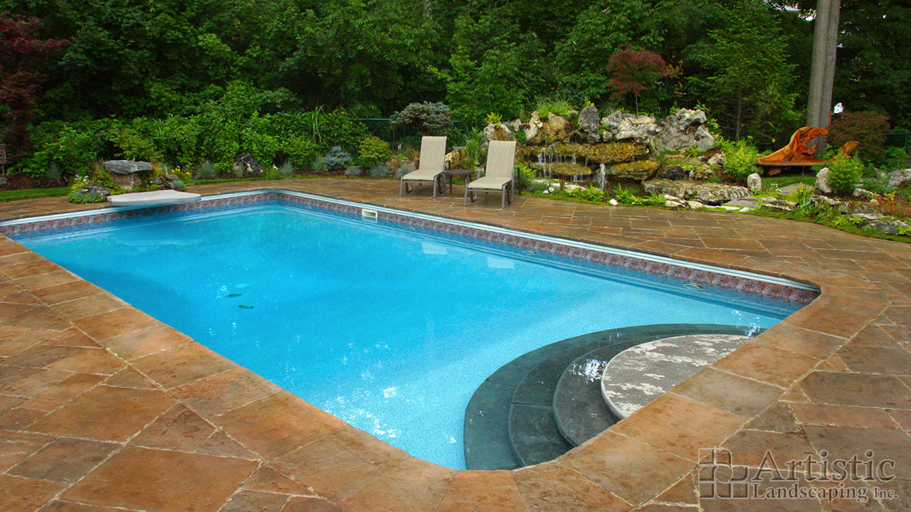 Hot tubs custom pool designs kitchener waterloo for Pool design with hot tub
