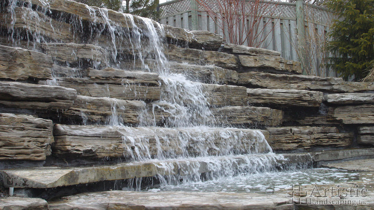 Pondless Waterfalls: Waterfall without Pond Kitchener Waterloo